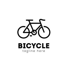 bicycle logo emblem design vector image