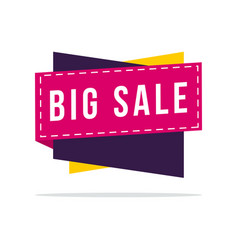 big sale off discount sticker vector image