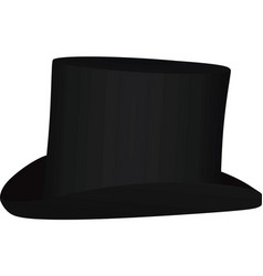black cylinder hat vector image