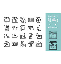 Black friday related line icon set vector