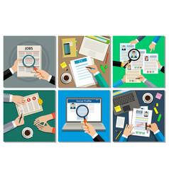 Business concept set vector