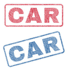 Car textile stamps vector
