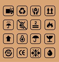 Cardboard icon circle vector