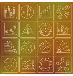 charts doodles chalky vector image vector image