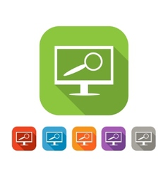 Color set of flat computer search icon vector