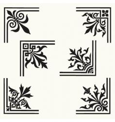 corner elements vector image