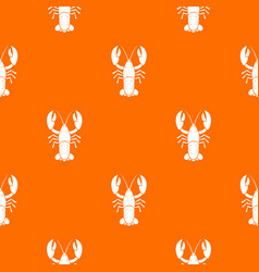 Crawfish pattern seamless vector