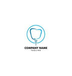 dental implant logo design element for dental vector image