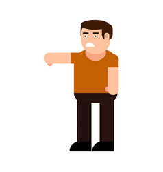 dissatisfied man icon vector image