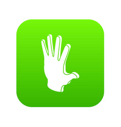 election greeting hand icon green vector image