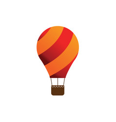 elegant air balloon template vector image