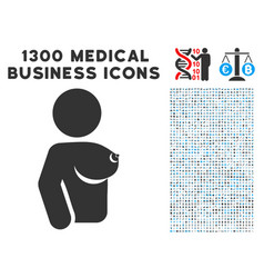 Female tit icon with 1300 medical business icons vector