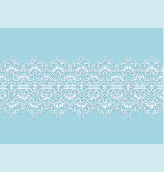 Floral lace ribbon vector