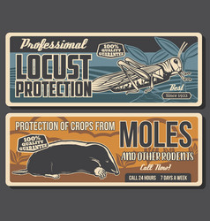 garden pest control and crops protection banners vector image