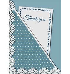 Greeting card decorated with lace on background vector