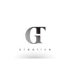 gt logo design with multiple lines and black vector image