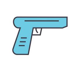 Gun concept line icon editable stroke vector