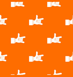 i love you hand sign pattern seamless vector image