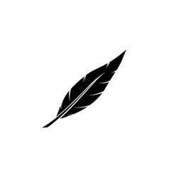 icon feather vector image