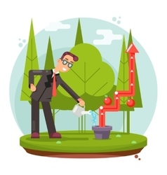 Infographic Growth Cultivate Success Businessman vector