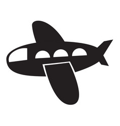 isolated airplane toy icon vector image