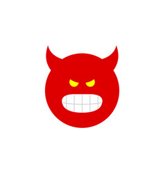 Isolated angry flat icon pouting element vector