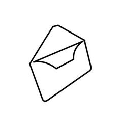 Letter open message icon vector