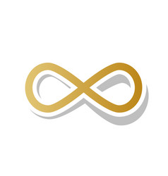 Limitless symbol golden vector