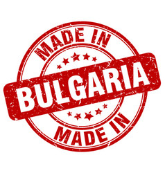Made in bulgaria red grunge round stamp vector