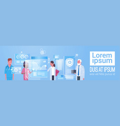 medicine and technology concept medical doctors vector image