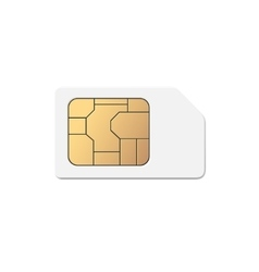 Mobile Cellular Phone Sim Card Chip vector image vector image