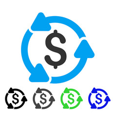 Money circulation flat icon vector