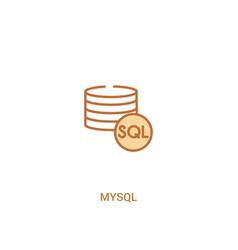 mysql concept 2 colored icon simple line element vector image