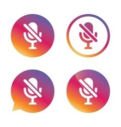 No Microphone sign icon Speaker symbol vector image