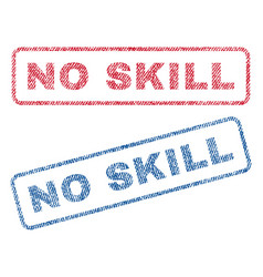 No skill textile stamps vector