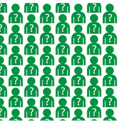 Pattern background why us people icon vector