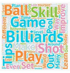 Play Billiards How To Improve Your Skill Set text vector image