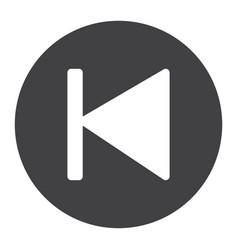Previous button glyph icon web and mobile audio vector