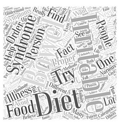Proper diet for irritable bowel Word Cloud Concept vector