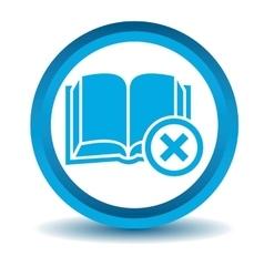 Remove book icon blue 3D vector