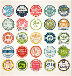 retro vintage badge and label collection 3 vector image