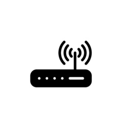 Router Icon Flat vector image