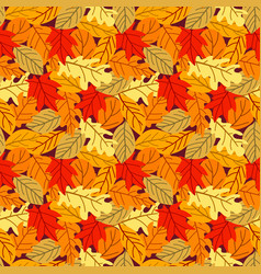 seamless pattern with many colored autumn leaves vector image