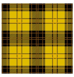 Seamless Yellow Tartan Plaid Design vector image