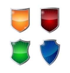 Set shields protection web security antivirus vector