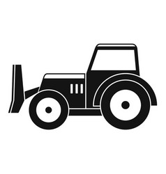 skid steer loader icon simple vector image