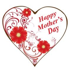 swirl heart mom vector image vector image