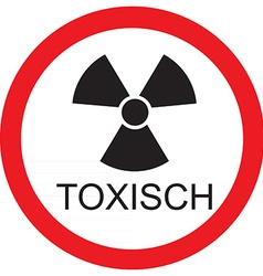 Toxisc vector image