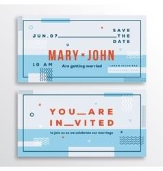 Wedding invitation card template modern abstract vector