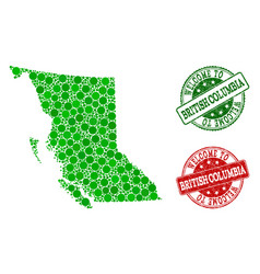 Welcome composition of map of british columbia vector